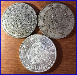 Antique Japan Coin Set 3 type of 1 yen coin complete set from Japan
