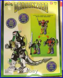 Bandai Power Rangers Deluxe Dragonzord & Green Ranger Toy Complete From Japan