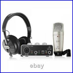 Behringer U-PHORIA STUDIO Complete Recording Podcasting Bundle Set From Japan