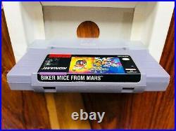 Biker Mice from Mars Super Nintendo SNES CIB Complete Box Manual Very Good RARE