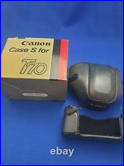 Complete CANON T70 SLR 35mm kit from Dixons ALL BOXED + boxed extras
