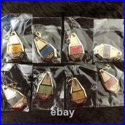 Digimon Crest Metal Charm Set Complete Lot of 10 from JAPAN