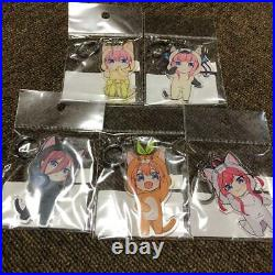 Go Toubun no Hanayome Acrylic Keychain Complete Set Anime from JAPAN