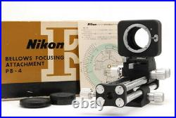 IFedExUnused Complete BoxNikon Bellows Focusing Attachment PB-4 From JAPAN