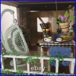 Miniature Dollhouse Kit Completed Two-story Stylish Cafe F/S From Japan