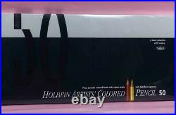NEW Holbain Artist Colored Pencil Complete 50 Color Set from Japan