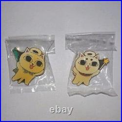 Nekojiru Pins 8 Set Pin Badge Complete Retro Vintage Nekogami-sama From Japan