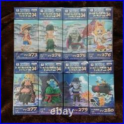 ONE PIECE WCF World Collectable Figure vol. 34 Complete set From Japan F/S