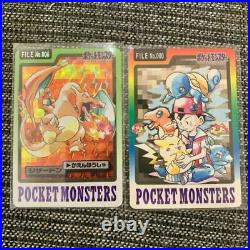 POKEMON CARDASS Part3 & 4 No. 000-151 Complete Lot BANDAI with File from Japan