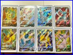 Pokemon Card Eevee Heroes V SR 8 Type Complete Set S6a Japanese From JP