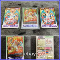 Pokemon Carddass Complete 151 Set + Carddass Very Good From JAPAN FedEx