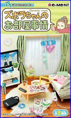 Re-Ment Slovenly room Miniature Figure Complete Box Petit Sample Se From japan