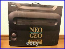 SNK NEO GEO AES Console System Complete Set Boxed Very Good Condition from Japan