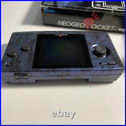 SNK Neogeo Pocket Console Maple Blue Edition Complete / CIB From Japan