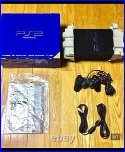 SONY Playstation 2 SCPH-50000 BLACK Complete product! From Japan PS2