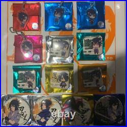 Sasuke Uchiha Can Badge & Acrylic Strap Complete Collection New from Japan F/S