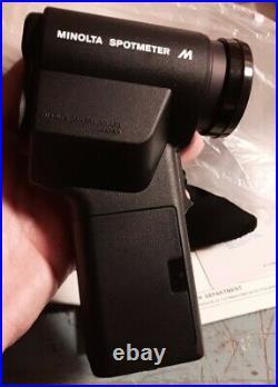 UnUsed Vintage Minolta Spotmeter M Light Exposure Spot Meter From JAPAN Complete
